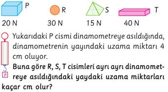 dinamometre 5. sınıf soru
