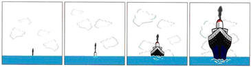 dünya yuvarlak gemi