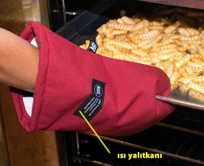 Fırın eldiveni ısı yalıtımı