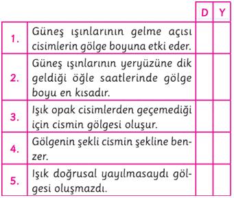 ışık soru 5. sınıf