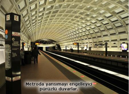 Metro pürüzlü duvar